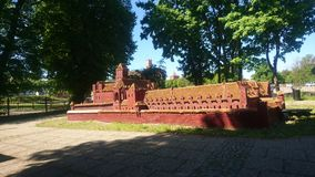 Castillo miniatura de Malbork Imagenes de archivo