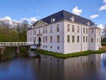 Castillo Moated en Dornum Foto de archivo