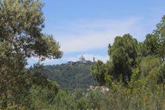 Castillo Montjuic Fotografía de archivo