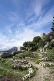 Castillo musulmán en Sainte Agnese imagenes de archivo