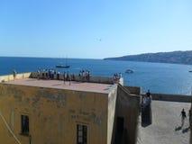 Castillo Nápoles del huevo foto de archivo