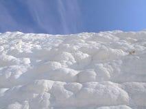 Castillo natural del algodón de los travertinos Foto de archivo libre de regalías