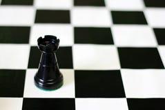 Castillo negro en tarjeta de ajedrez fotografía de archivo libre de regalías