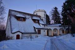Castillo Nevado Imagen de archivo libre de regalías