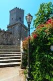 Castillo normando en Erice, Sicilia, Italia Imágenes de archivo libres de regalías