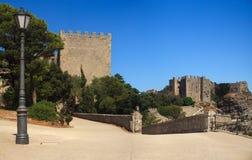 Castillo normando y castillo de Venere, Erice Fotografía de archivo