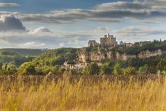 Castillo o castillo francés de Beynac Imágenes de archivo libres de regalías