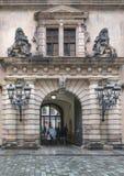 Castillo o Royal Palace, uno de Dresden de los edificios más viejos del Barroco a los estilos del Neo-renacimiento foto de archivo