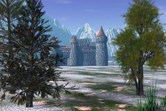 Castillo ocultado Stock de ilustración