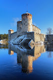 Castillo Olavinlinna en Savonlinna, Finlandia Fotos de archivo