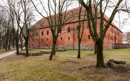 Castillo Ostroda de Mazury en Polonia Fotos de archivo libres de regalías