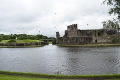 Castillo País de Gales de Caerphilly Imagen de archivo