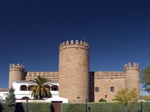Castillo -parador de turismo de Zafra 2. General view of the Palace of the Dukes of Feria today the Parador de Zafra (Spain Stock Photo