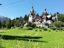 Castillo PeleÈ™ en Rumania imagen de archivo