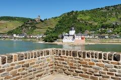 Castillo Pfalzgrafenstein en el río el Rin Imagenes de archivo
