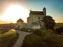 Castillo Polonia Bobolice imágenes de archivo libres de regalías