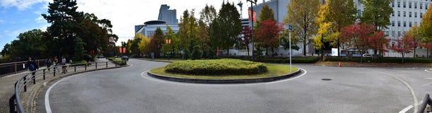 Castillo próximo de Osaka del cruce giratorio, Osaka Imágenes de archivo libres de regalías