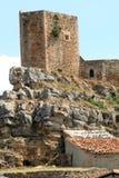 Castillo Puertomingalvo Imágenes de archivo libres de regalías