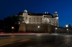 Castillo real de Wawel en el hight, Krakowe, Polonia imagen de archivo