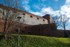 Castillo real de Wawel en Kraków Fotografía de archivo libre de regalías