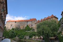 Castillo real en Cesky Krumlov, República Checa Fotografía de archivo libre de regalías