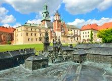 Castillo real en Kraków, Wawel Imagen de archivo libre de regalías