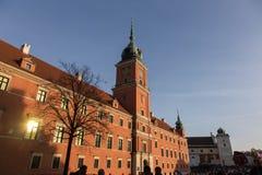 Castillo real en Varsovia Fotos de archivo libres de regalías