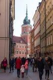 Castillo real en Varsovia Fotografía de archivo libre de regalías