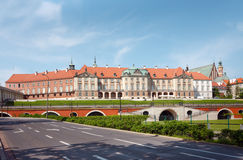 Castillo real en Varsovia - arcadas fotografía de archivo