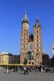 Castillo real en Wawelu.Poland Foto de archivo