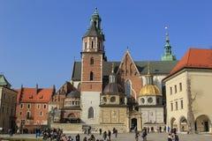 Castillo real en Wawelu.Poland Fotos de archivo libres de regalías