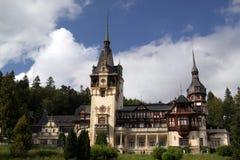 Castillo real famoso de Peles - Rumania fotos de archivo