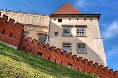 Castillo real Wawel Imágenes de archivo libres de regalías