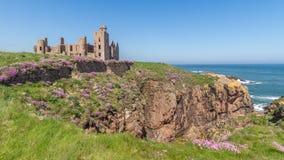 Castillo Reino Unido Escocia de Slains Fotos de archivo libres de regalías