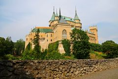 Castillo romántico de Bojnice Imagen de archivo