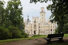 Castillo romántico Hluboka Fotografía de archivo