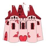 Castillo rosado stock de ilustración
