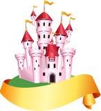 Castillo rosado del cuento libre illustration