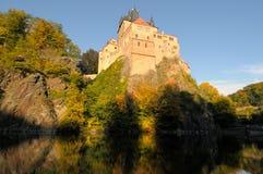 Castillo Sajonia Alemania de Kriebstein Fotografía de archivo
