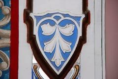 Castillo Sammezzano, lirio florentino del escudo de armas Imagen de archivo