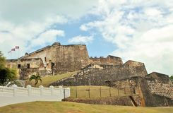 Castillo San Crist�bal Fort in San Juan, Puerto Rico - 3/9/2017  tourists visit the fort in Old San Juan Royalty Free Stock Photos