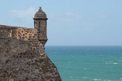 Castillo San Cristobal, Сан-Хуан, Пуэрто-Рико Стоковая Фотография