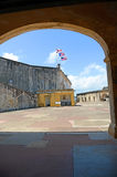 Castillo San Cristobal fort in San Juan Royalty Free Stock Photos