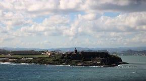 Castillo San Cristobal, Puerto Rico Royaltyfri Foto