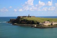 Castillo San Cristobal, Puerto Rico Royaltyfria Bilder