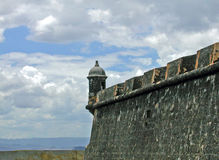 Castillo San Cristobal San Juan Puerto Rico. A photograph of a wall an lookout at the Fort of San Cristobal San Juan Puerto Rico Royalty Free Stock Photo