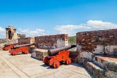 Castillo SAN Felipe Barajas, εντυπωσιακό φρούριο Στοκ φωτογραφίες με δικαίωμα ελεύθερης χρήσης