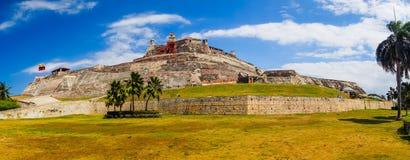 Castillo San Felipe Barajas, впечатляющая крепость стоковое изображение
