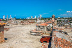 Castillo San Felipe Barajas, fortaleza impressionante Imagem de Stock