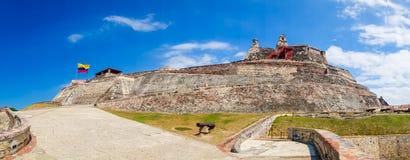 Castillo San Felipe Barajas, imponująco forteca Fotografia Royalty Free